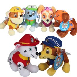 Wholesale 12cm Patrol Plush Dolls Skye Marshall Chase Zuma Rocky Rubble Paw Figure Puppy Stuffed Soft Dolls Toys Best Gifts