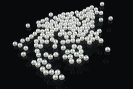 Wholesale 1 mm mm DIY small cream and white round AAA High gloss ABS Acrylic imitate pearl undrilled no hole loose beads A R001