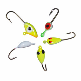 Wholesale 20pcs bags top quality lead jig hooks ice fishing lures jig head the best choice for the winter fishing pesca