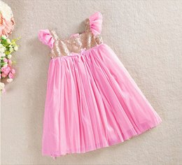 NEW Girls Baby Toddler Sleeveless Sequined Tulle Party Dress Ball Gown with Sparkling Polka Dots 2-8 Years