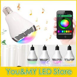 Edison2011 New Smart Bulb Bluetooth Speaker Bulb E27 LED RGB Light Wireless Music Bulb Lamp Color Changing via WiFi App Control