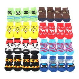 Wholesale Small Pet Dog Socks Doggy Shoes Lovely Soft Warm Knitted Indoor Anti Slip Socks Clothes Apparels For S XL