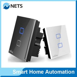 Wholesale Broadlink TC1 Wireless Gang Wifi Remote Control Wall Light Touch Screen Switch Smart Home Automation AC110v V Android IOS