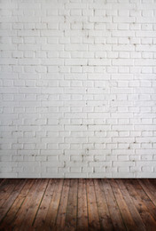 Wholesale Brick Wall and Wooden Floor Theme Vinyl Custom Photography Backdrops Prop Muslin Photography Background ZD