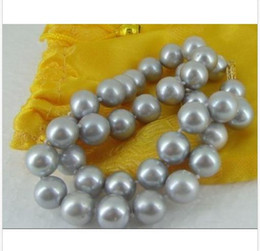 Wholesale 18 quot MM AAA AUSTRALIAN SOUTH SEA SILVER GREY PEARL NECKLACE K