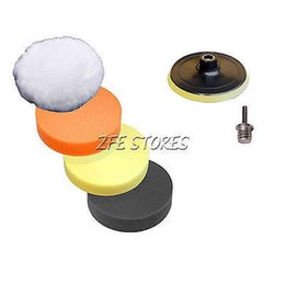 Wholesale 5Pcs quot mm Waffle Car Polishing Pad Foam Buffing pad Set M14 Thread
