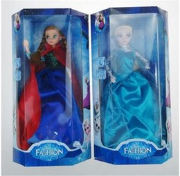 Descuento muñecas de la muchacha 2014 Nueva llegada 11.5inch Musical Frozen muñeca con Luz Anna y Elsa con música