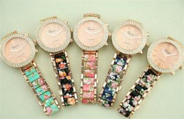 Wholesale Cheap Ceramic Watches Wholesale - Watches For Women Best Ceramic Alloy Flower Stamp Fashion Skeleton Cheap Geneva Wrist Nice Watches For Women
