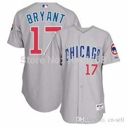 Wholesale 30 Teams Teams New Kris Bryant Chicago Cubs Authentic Grey Road On field Jersey
