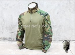 Wholesale TMC1819 WL Combat Shirt Woodland Tactical Shirt TMC1819 WL Please support home furnishings