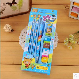 Wholesale office stationery supplier pencil pencil core pencil eraser set packing as students or children gift prize sets ARC756