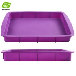 Wholesale Non stick Square Silicone Mold Cake Pan Baking Tools For Cakes Heat Resistant Bread Toast Mold dandys