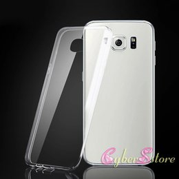 Wholesale For iphone plus note Soft TPU Clear Transparent Flexibilty Ultra Thin Back Case Cover For Samsung Galaxy S6 S7 edge