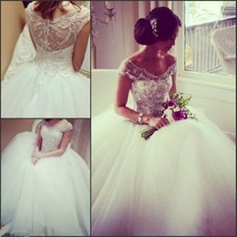 Ball Gown 2019 Luxury Wedding Dresses Off Shoulder Beading Tulle Princess Zipper Bridal Gowns Newest Fashion Design Custom Made