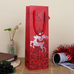 Wholesale Merry Christmas Red Paper Gift Bag Assorted Portable Art Decor Hand Bag Christmas Gift Packing Wrap SD799