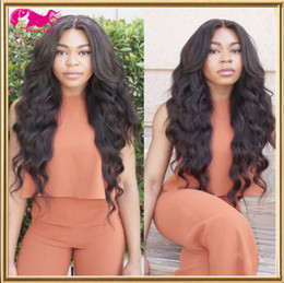 top grade 8A 1#,1b,2#,4#,Natural Color Unprocessed Indian Virgin Hair Body Wave Front Lace wig Full Lace Wig 130% density with baby hair