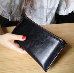 Women Real Leather Zipper Clutch Organizer Wallet ID Coin Phone Purse Handbag Womens Casual Wallet Western Style Fashion Wallet