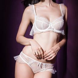 Wholesale 2015 new style women sexy underwear ultra thin lace push up bra transparent lace underwear bra set retail A D