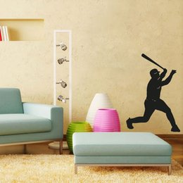 Wholesale Baseball Batter Silhouette wall decals vinyl stickers home decor living room decorative stickers nursery wall decal