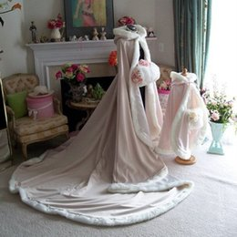 Sleeping Beauty Bridal Cape Wedding Cloak Champagne   Ivory Satin 96 inch Wedding Wraps Winter Reversible Cape Cloak Christmas Hooded Cape