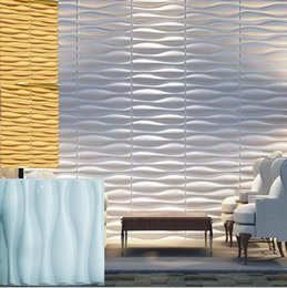 Modern Simple Wall Decorative Big Wave Shape Designed Light-weight 3D PVC Wall Panels