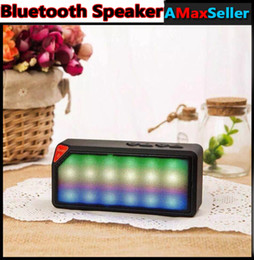 Wholesale NEW X3S Portable Wireless Bluetooth Speaker With Colorful Neon Light X3S Calling TF Card FM Line in Function for Smartphone MP3 MP4