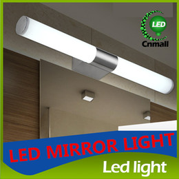 Wholesale LED Mirror Light High Quality SMD Stainless Steel W W W LED Mirror Lamp Bathroom Make up Room Bedroom Mirror Front Wall Lamps