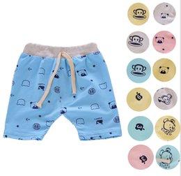 Wholesale 16 Colors Baby Boys Cartoon Crochet Shorts harem pants Infant PP Pants Can open file Children Trousers boys Clothing Kids Wear