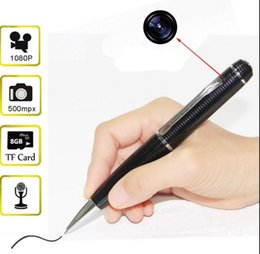 Wholesale 1080p HD mini spy camera pen camcorders avi HD pen Camera hidden Pen recorder DVR support G Micro SD Card Hidden camera
