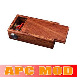 Wholesale original APC MOD wood box mod APC box mod fit for battery Vape Mod e cigarette Electronic Cigarette Ecig waitingyou