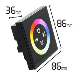 Wholesale New Heat selling DC V V A channels LED Touch Panel RGB Controller w Rainbow Color Ring DHL
