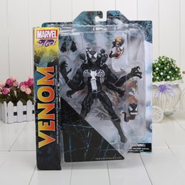 Wholesale 21cm DST Select The Amazing Spider man Venom PVC Spiderman Action Figure Collcetion Model Toy Gifts