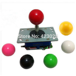 Wholesale free shipping White ball Classic 2 4 8 way Arcade Game Joystick, Zippy JoyStick joystick parts
