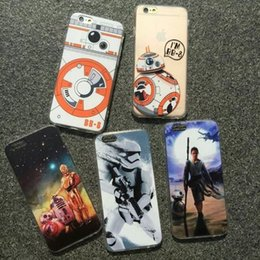 Wholesale Hot star wars paint Scrubs frosted BB phone case protective shell cover for iphone s s plus