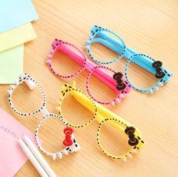 Wholesale-Hot Selling Creative Lovely Cartoon Novelty key shape ballpoint pen Cute glasses pen   gift pen