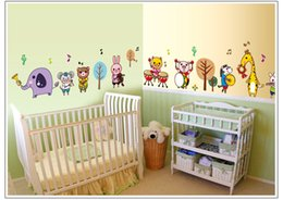 Wholesale 50cm cm D animal band wall stickers For Bedroom Kids Room wall stickers decorative Wall paper removable on sale new