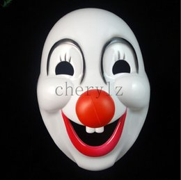 Red Nose Clown Halloween Costume Mask Jolly Halloween Masquerade Masks Festive & Party Supplies Party Masks C1400