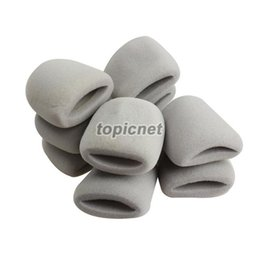 Wholesale ASLT Thicken Microphone Grill Foam Cover Mic Shield Sponge Cap Holder Gray order lt no track