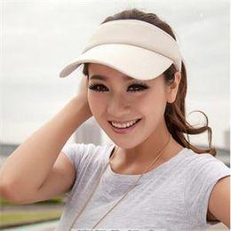 Wholesale-2015 New Hot Selling Tennis Caps Stylish Women Men Unisex Outdoor Beach Sports Sun Visor Hat Golf Tennis Adjustable