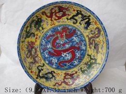 Wholesale wedding decoration In ancient Chinese painting color flower dragon porcelain plate