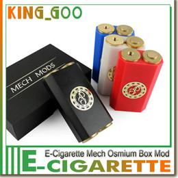 Wholesale Osmium Mech Box Mod Clone High quality Osmium Box Mod Latest Technology Box mod fit battery Colors DHL Free