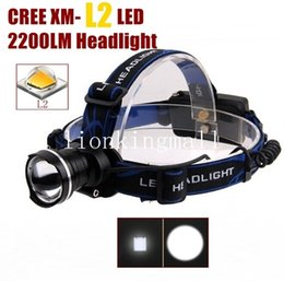 AloneFire HP87 Cree XM-L2 LED Zoom led Headlight Headlamp for 1 2 x 18650 Rechargeable batteries -black ,blue,red