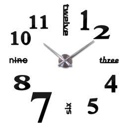 Wholesale 2015 new sale wall clock clocks reloj de pared watch d diy Acrylic mirror Stickers Quartz Modern Home Decoration D004