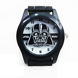 Wholesale Star Wars Darth Vader Stromtrooper PVC Black Silicone Quartz Watch Wrist for men Gifts fans favor