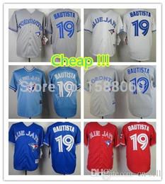 2017 Wholesale Mens Womens Kids Toronto Blue Jays 19 Jose Bautista Blue White Grey Red Stitched Sports shirt Cheap Top Sale Baseball Jerseys