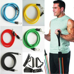 Promotion! 11Pcs Set Latex ABS Tube Workout Resistance Bands Exercise Gym Yoga Fitness Sets Outdoor Sports Supplies High Quality