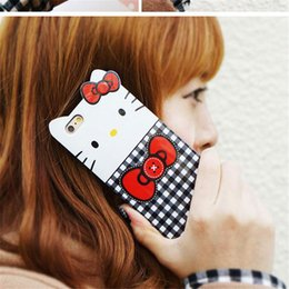 Wholesale lovely Big Face Soft TPU KT cat cover case TPU Soft Pattern Soft Transparent TPU Case Cover For iphone6 plus Fashion color printing Cover