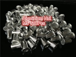 Wholesale 500pcs M5 Rivet Nut Aluminu Flat head blind insert AVK large profile flange insert nuts Metric M5 Alu riveting nut