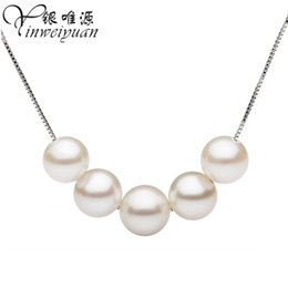 Wholesale Factory South Korea female natural freshwater pearl necklace pearls genuine sterling silver jewelry silver jewelry chain clavi