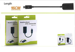 USB On The Go Micro USB OTG Cable Host Adapter With The Retail package For Samsung Galaxy S2 S3 S4 I9500